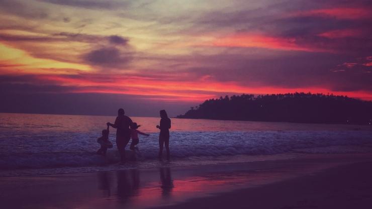 Sunset at Mirissa Beach